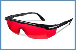 Gafas de seguridad rojas