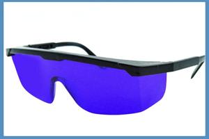 gafas de seguridad azules