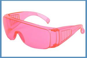gafas de seguridad rosas