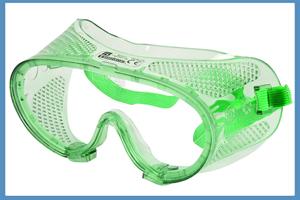 gafas de seguridad verdes