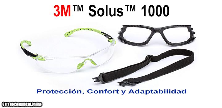 lentes de seguridad 3m solus 1000